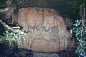 photo of aboriginal rock art