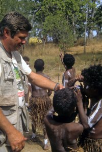 photo fo author meeting aboriginal boys