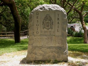 Desoto monument marker