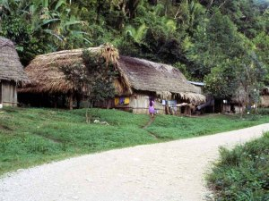 photo of a small mayan village