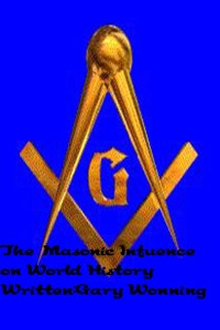 gold masonic emblem against a blue background