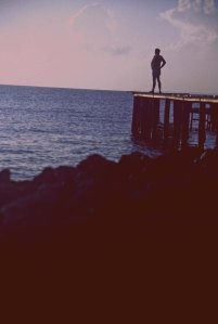 standing on the dock Corozal Town