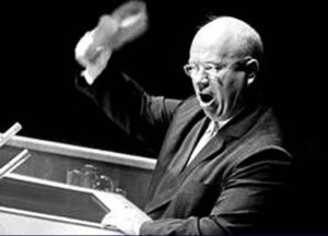 photo of nikita khrushchev at the United Nations