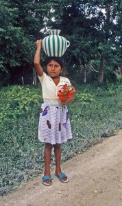 photo of a little Mayan girl