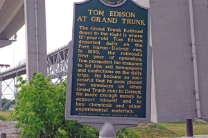 thomas edison plaque