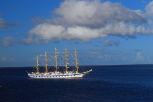 photo of sail boat in the Caribbean