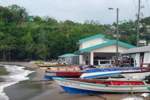 photo of small row boats