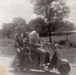 photo of a Cushman scooter